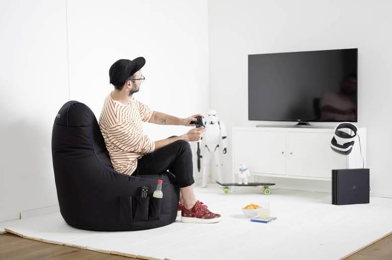 Verarbeitung des GAMEWAREZ Gaming Sitzsack
