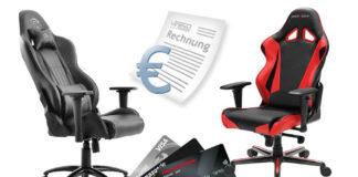 Gaming Stuhl auf Rechnung kaufen - so gehts