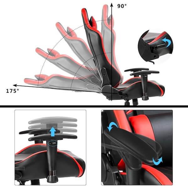 Funktionen des Merax Gaming Stuhl