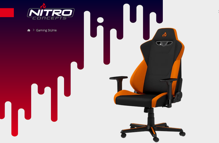Nitro Concepts S300 orange schwarz